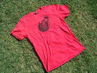 Red Mesh Up T-Shirt